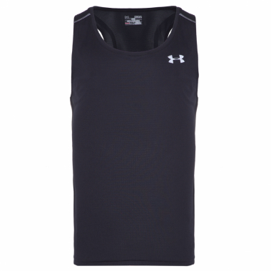 Regata Masculina Ua Coolswitch Run Singlet V2 - Preto