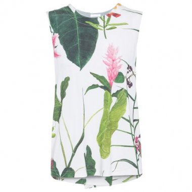 Regata Sleeveless Floral Osklen – Off White
