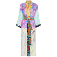 Rianna + Nina Kimono Com Mix De Estampas Florais - 108 - Multicoloured