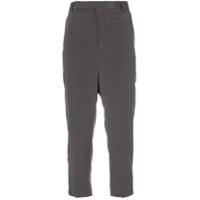 Rick Owens Calça Cropped 'easy Astaires' - Cinza