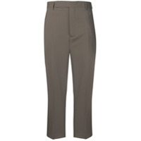 Rick Owens Cropped Tailored Trousers - Cinza