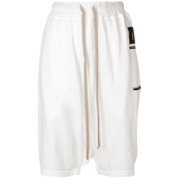 Rick Owens Drkshdw Dropped Crotch Track Shorts - Branco