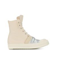 Rick Owens Drkshdw Panelled Lace-Up Boots - Neutro