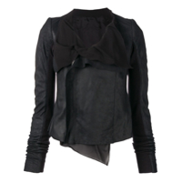Rick Owens Fitted Leather Jacket - Preto