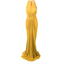 Rick Owens Lilies Draped Front Gown - Amarelo