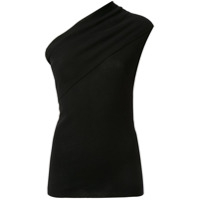 Rick Owens One Shoulder Knitted Top - Preto