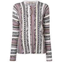 Roberto Cavalli All-Over Print Cardigan - Marrom