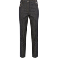 Rokh Button-Cuff Cropped Jeans - Azul