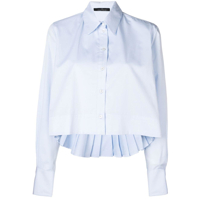 Rokh Camisa Cropped - Azul