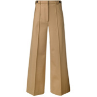 Rokh Cropped Wide-Leg Trousers - Neutro