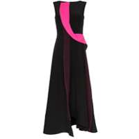 Roksanda Efilia Sleeveless Sculptural Trim Silk Dress - Preto