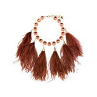 Rosantica Feather Crystal Necklace - Vermelho