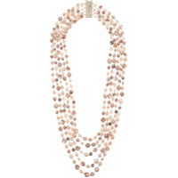 Rosantica Long Beaded Loop Necklace - Pink