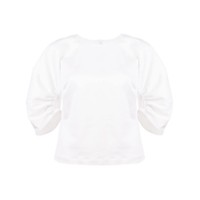 Rosetta Getty Gather Sleeve Top - Branco