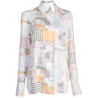 Rosetta Getty Geometric Print Shirt - Branco