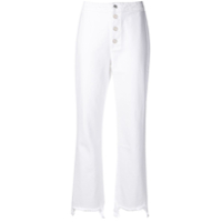 Rta Cropped High Waisted Jeans - Branco