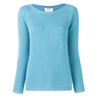 's Max Mara Long-Sleeve Fitted Sweater - Azul