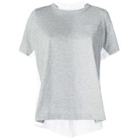 Sacai Double-Sided T-Shirt - Cinza
