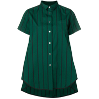 Sacai Oversized Striped Shirt - Verde