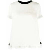 Sacai Pleated Back T-Shirt - Branco