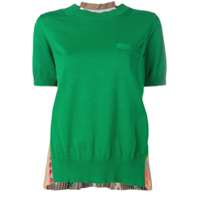 Sacai Pleated Knit Top - Verde