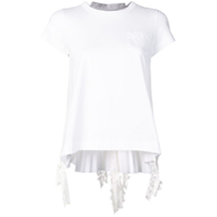 Sacai Pleated T-Shirt - Branco