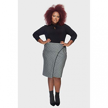 Saia Envelope Oxford Plus Size Preto-50/52