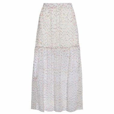 Saia Midi Rainbow - Off White