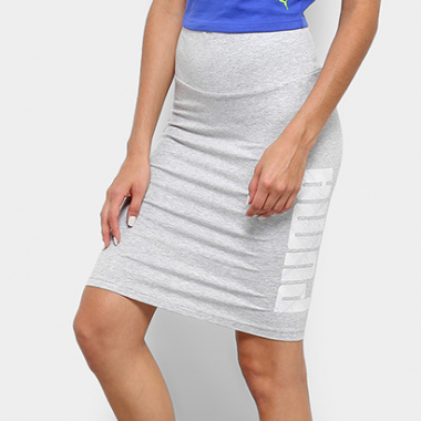 Saia Puma Summer Pencil Midi-Feminino