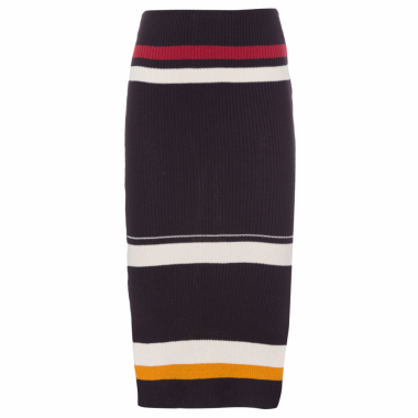 Saia Stripes Knit - Preto
