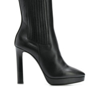 Saint Laurent Ankle Boot Chelsea 'hall' De Couro - Preto
