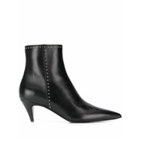 Saint Laurent Ankle Boot Com Tachas - Preto