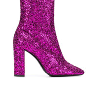 Saint Laurent Ankle boot 'Lou Lou' - Rosa
