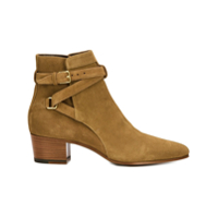 Saint Laurent Ankle Boot Modelo 'wyatt & Blake' - Marrom