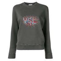 Saint Laurent Blusa De Moletom Ysl Disco - Cinza