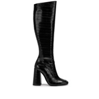 Saint Laurent Bota Over The Knee Texturizada - Preto