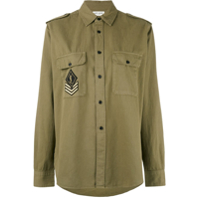 Saint Laurent Camisa Com Patch - Verde