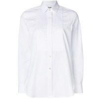 Saint Laurent Camisa Com Pregas - Branco