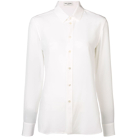 Saint Laurent Camisa De Seda - Branco