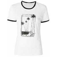 Saint Laurent Camiseta Com Estampa - Branco
