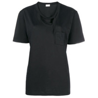 Saint Laurent Camiseta Com Recortes - Preto