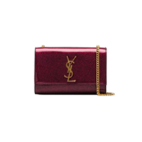 Saint Laurent Clutch 'kate' Com Brilho - Rosa
