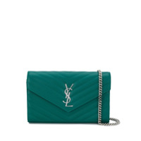 Saint Laurent Carteira Monogramada - Verde