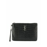 Saint Laurent Clutch Com Logo - Preto