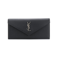 Saint Laurent Clutch De Couro - Preto