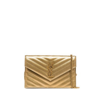 Saint Laurent Clutch Envelope Matelassê - Dourado