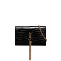 Saint Laurent Clutch Kate Com Efeito Crocodilo - Preto