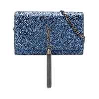Saint Laurent Bolsa Tiracolo 'kate' Com Brilho - Azul