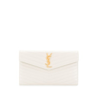 Saint Laurent Clutch Monogramada - Neutro
