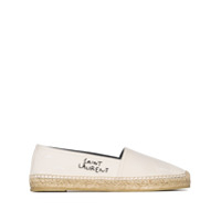 Saint Laurent Espadrille Com Logo Bordado - Branco